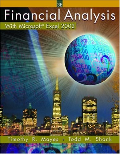 9780324178241 Financial Analysis with Microsoft Excel 2002