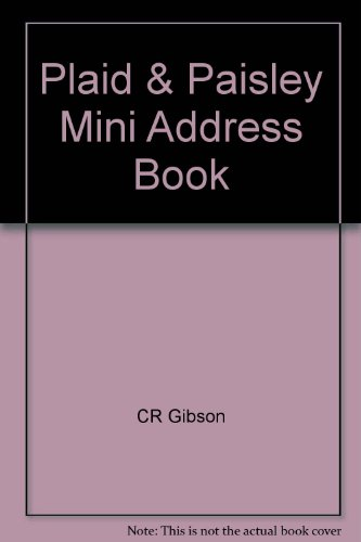 9780705352796 Plaid  Paisley Mini Address Book - AbeBooks - CR