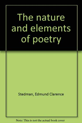 9781163218563 The Nature And Elements Of Poetry - AbeBooks - Edmund