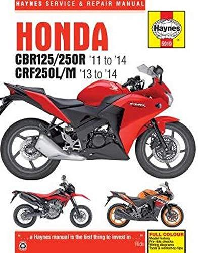 9780857339195 Honda CBR125R, CBR250R  CRF250L/M, \u002711-\u002714 (Haynes