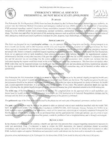 9780990397434 Do Not Resuscitate (DNR) Form (English) - AbeBooks - do not resuscitate form
