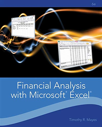 9781111826246 Financial Analysis with Microsoft Excel - AbeBooks