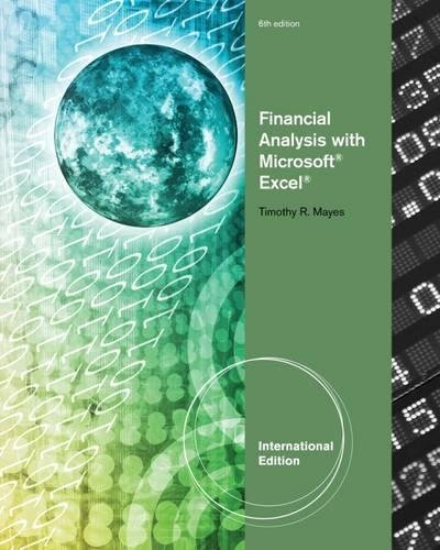 9781111989576 Financial Analysis with Microsoft® Excel