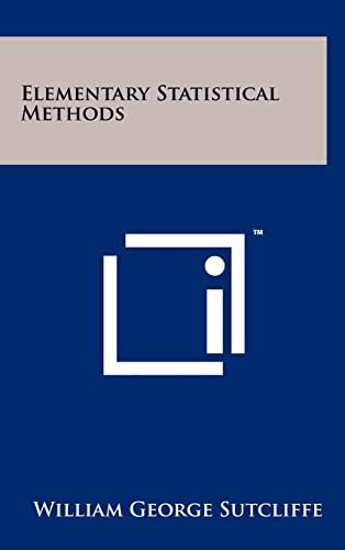 elementary statistical methods - AbeBooks