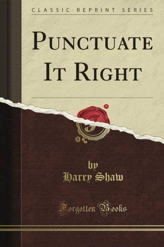9780064650823 Punctuate It Right - AbeBooks - Harry Shaw 0064650820