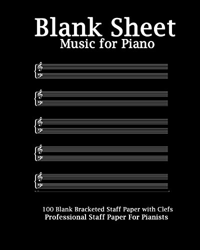 9781530235971 Blank Sheet Music For Piano Modern Black Cover