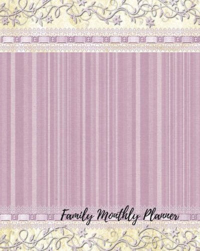 9781536992045 Family Monthly Planner Undated Monthly Schedule