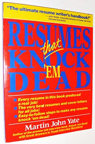 9781558509559 Resumes That Knock \u0027Em Dead - AbeBooks - Martin John - Knock Em Dead Resumes
