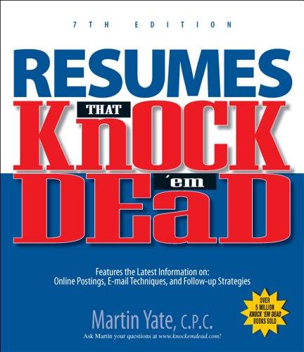 9781593377489 Resumes That Knock\u0027em Dead 7th Ed (Knock \u0027em Dead - Knock Em Dead Resumes