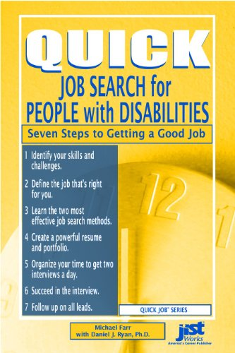 9781593573843 Quick Job Search for People with Disabilities Seven