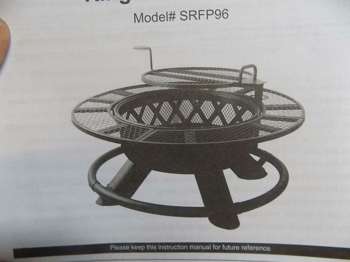 Fire Pit Big W Big Horn King Ranch Fire Pit With Grilling Grates Ebay