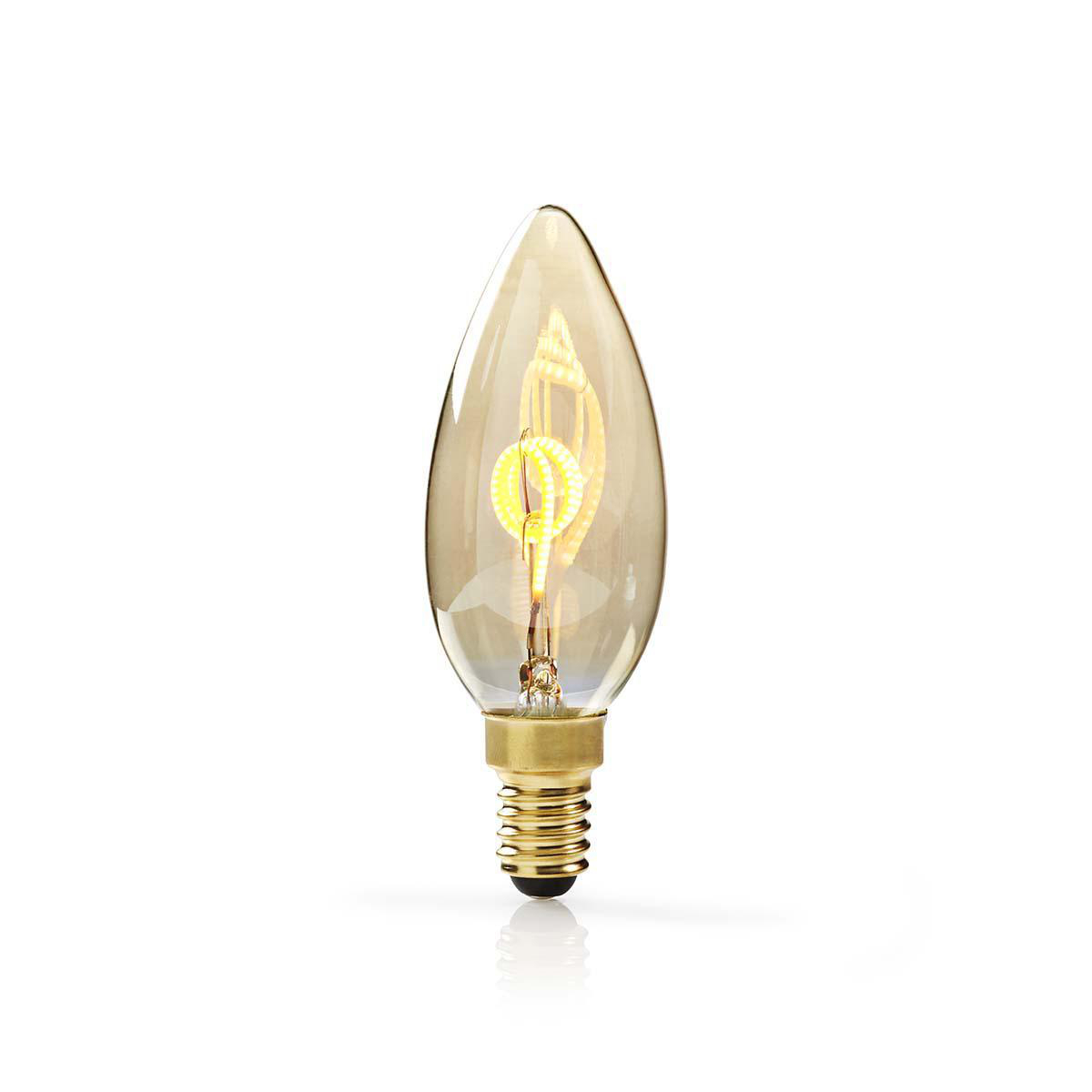 Dimmbare Led E14 Dimmable Led Vintage Filament Lamp E14 Candle 3 W 100 Lm Nedis