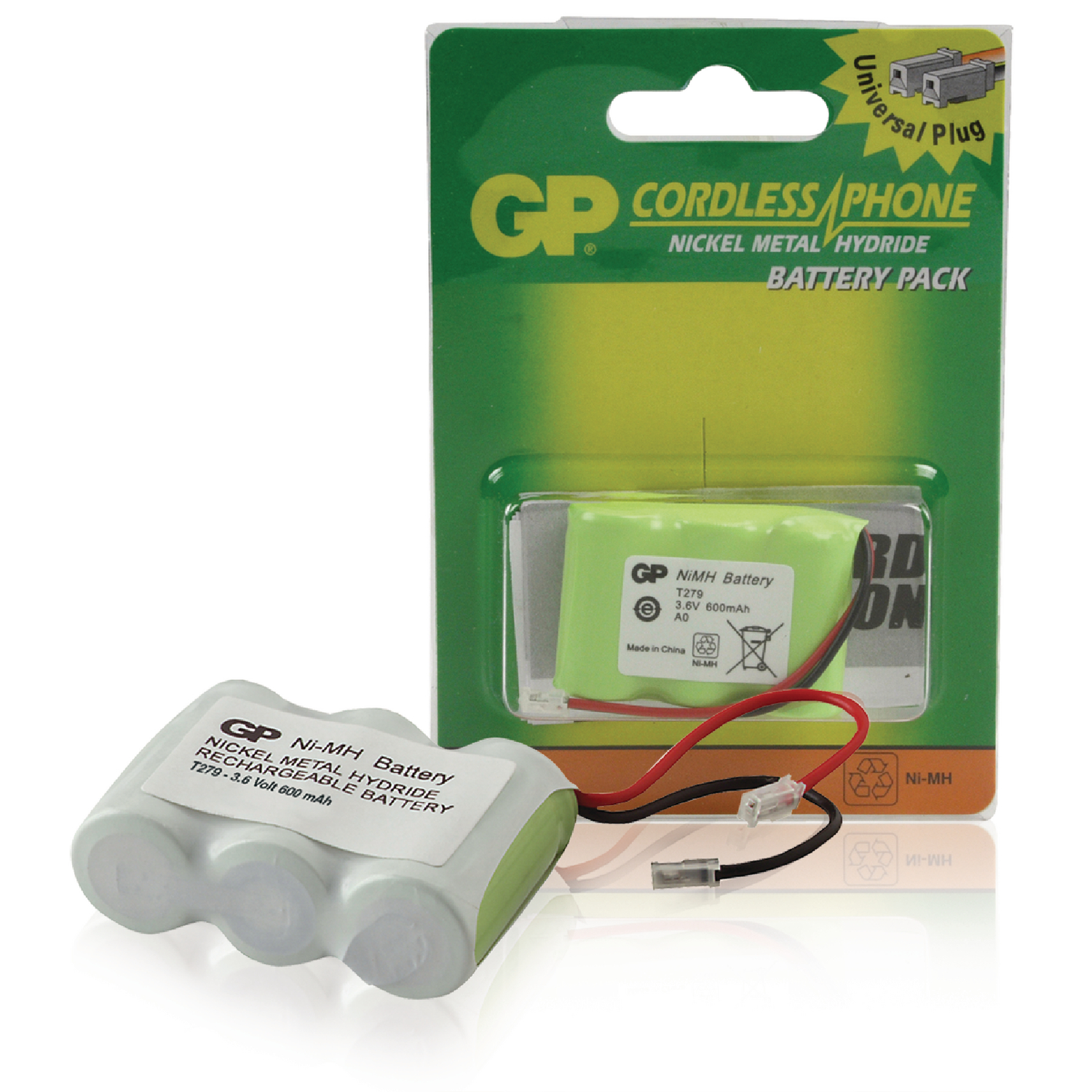Accu Batterien Accu T279 Gp Rechargeable Nimh Battery Pack 3 6 V 600