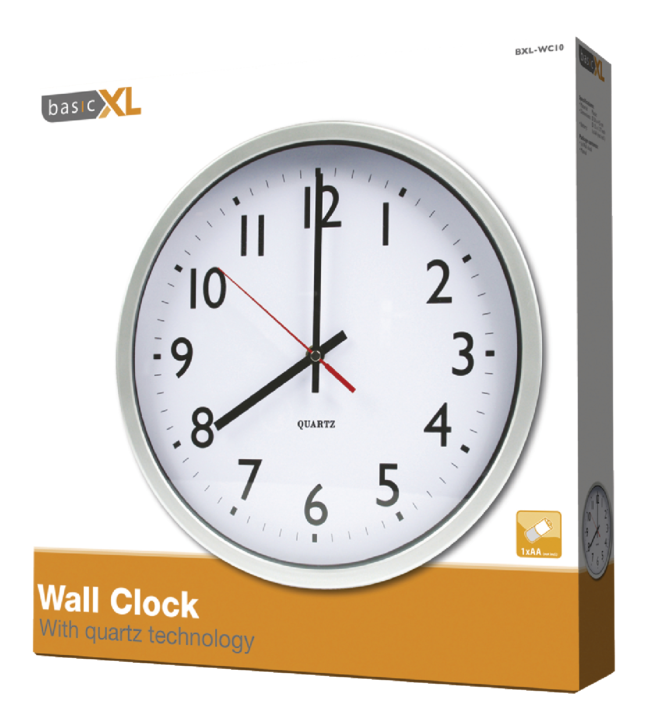 Inexpensive Wall Clock Bxl Wc10 Basicxl Wall Clock 30 Cm Analogue White