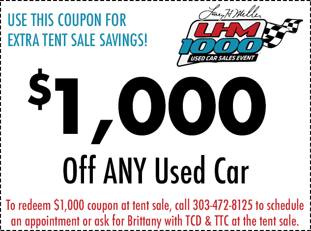 LHM 1000 Colorado Used Car Event 2018 Denver Jeep Center - print for sale sign for car