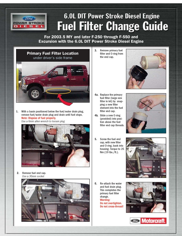 60L Fuel Filter Change Guide Town East Ford Mesquite TX