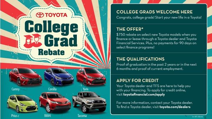 College Graduate Rebate Program - Toyota of Pullman Toyota of Pullman
