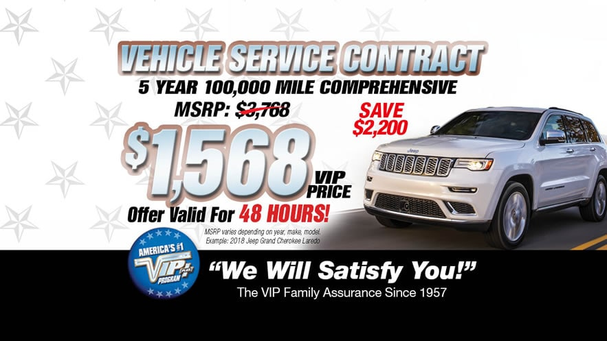 VIP Vehicle Service Contract Long Island, NY