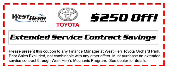 Extended Service Contracts West Herr Toyota of Orchard Park
