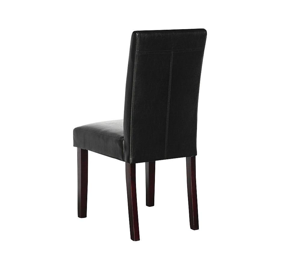 Furniture Chairs Black 2 X Pu Leather Palermo Dining Chairs High Back Black