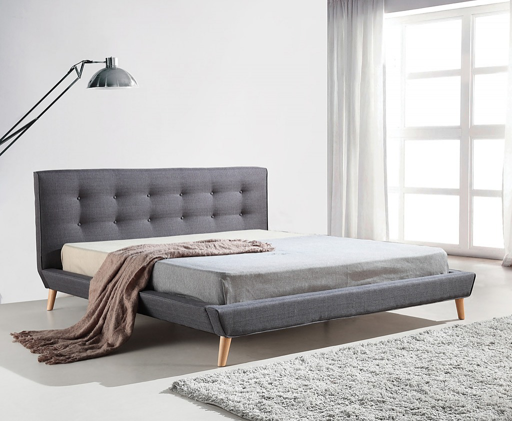 Fabric Bed Frames Checkout This Awesome King Linen Fabric Deluxe Bed Frame Grey