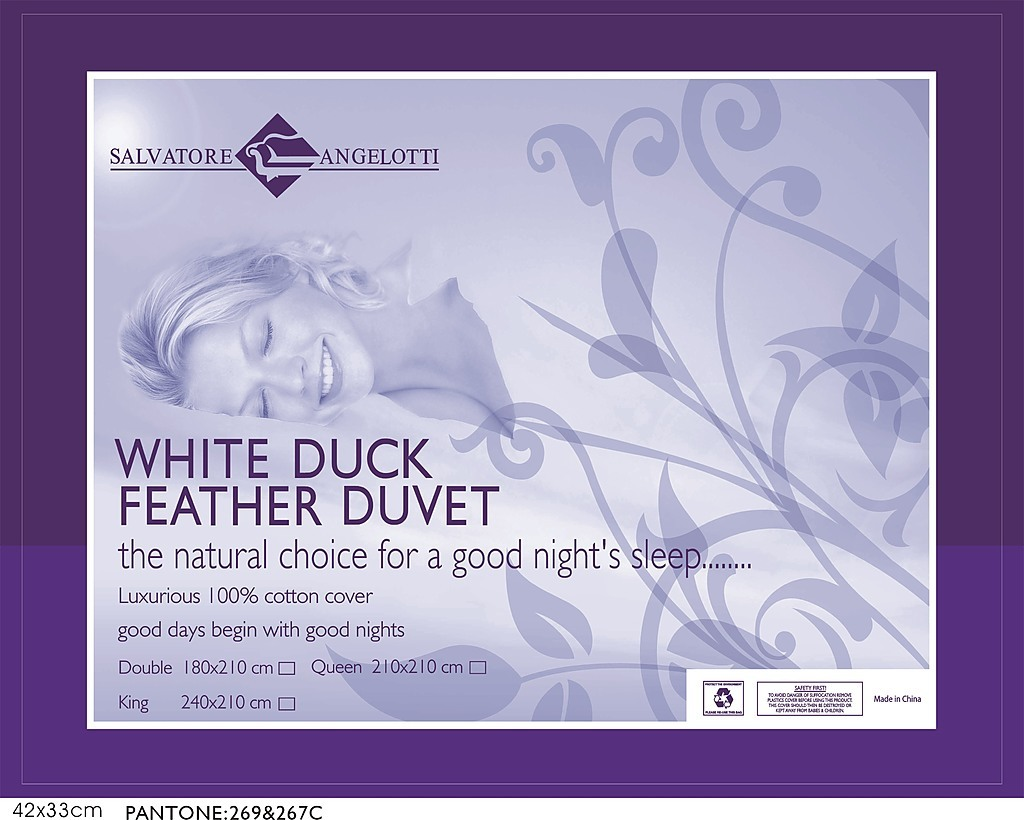 Duck Feather Doona 100 Cotton White Duck Feather Duvet