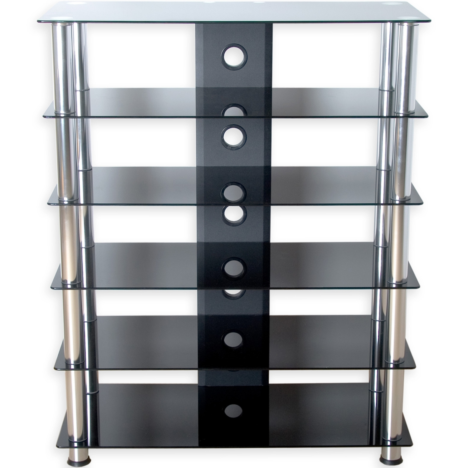 Glasregal Schwarzglas Stilista Tv Rack Schrank Ständer Möbel Regal Hifi Audio