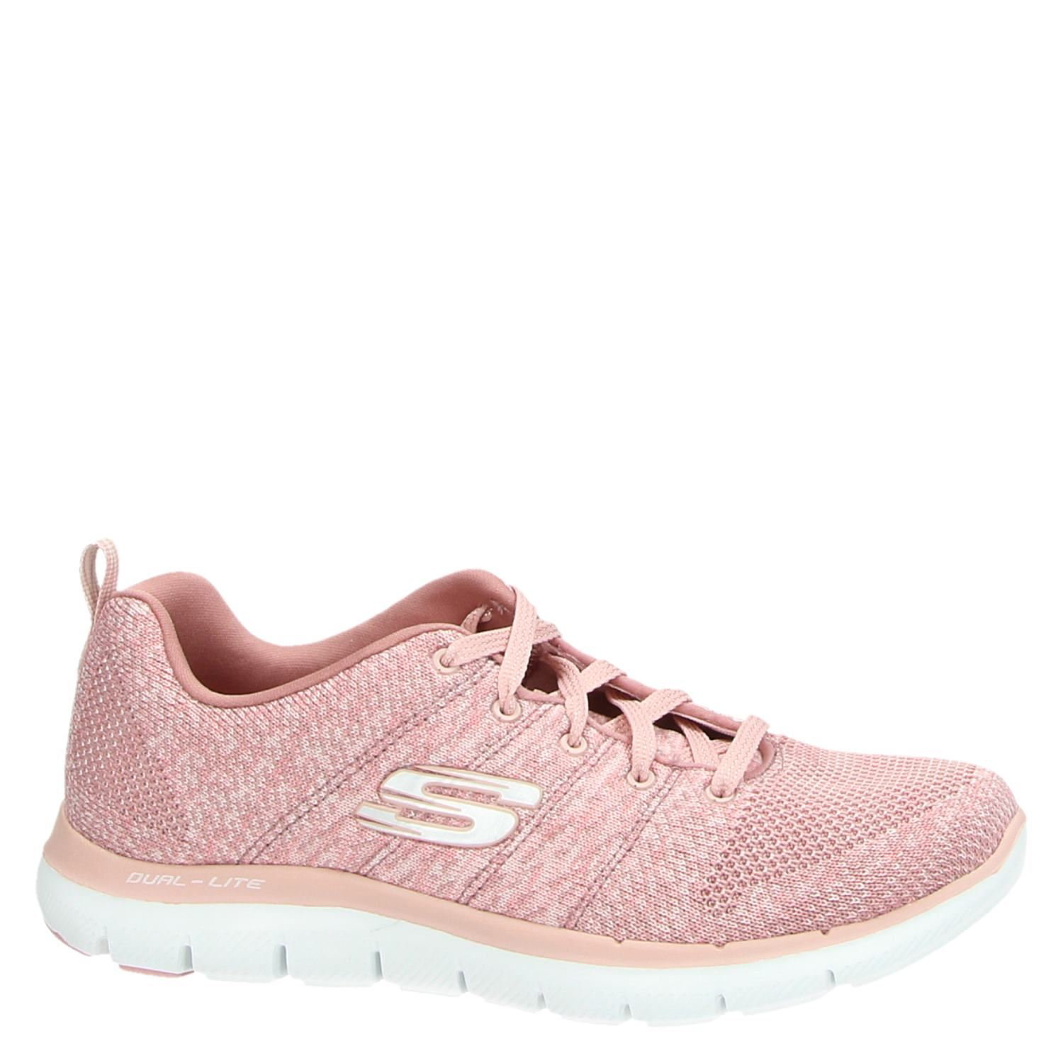 Skechers Dames Skechers Dames Lage Sneakers Roze