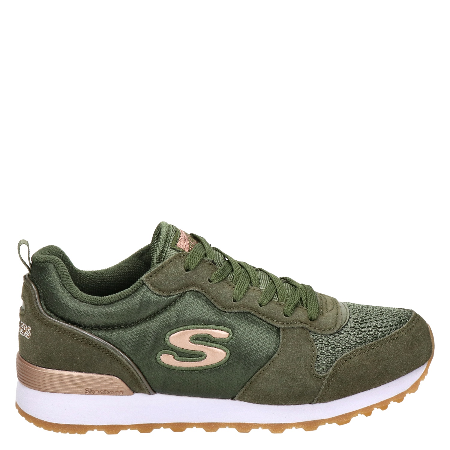 Skechers Dames Skechers Dames Lage Sneakers Groen