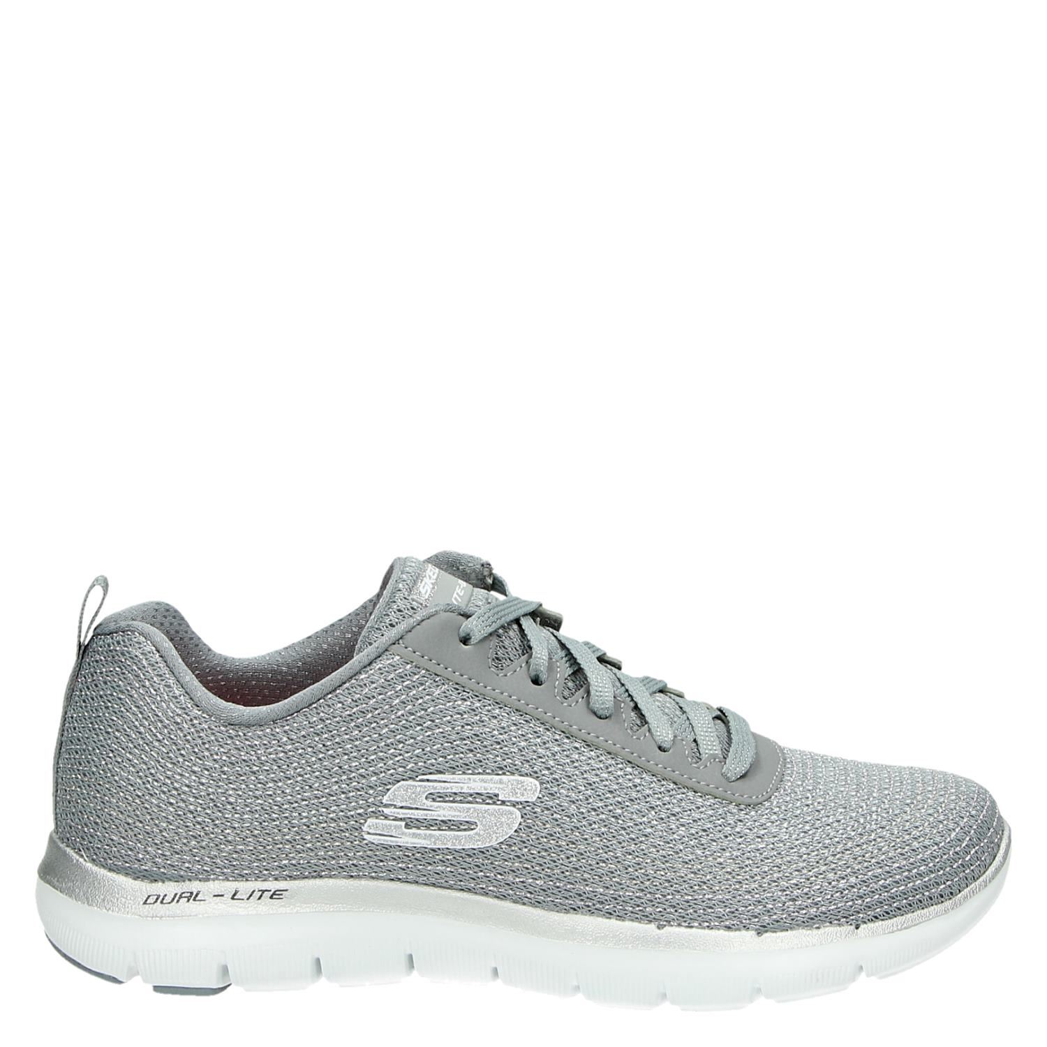 Skechers Dames Skechers Dames Lage Sneakers Grijs