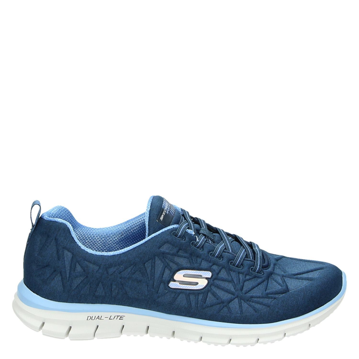 Skechers Dames Skechers Dames Lage Sneakers Blauw