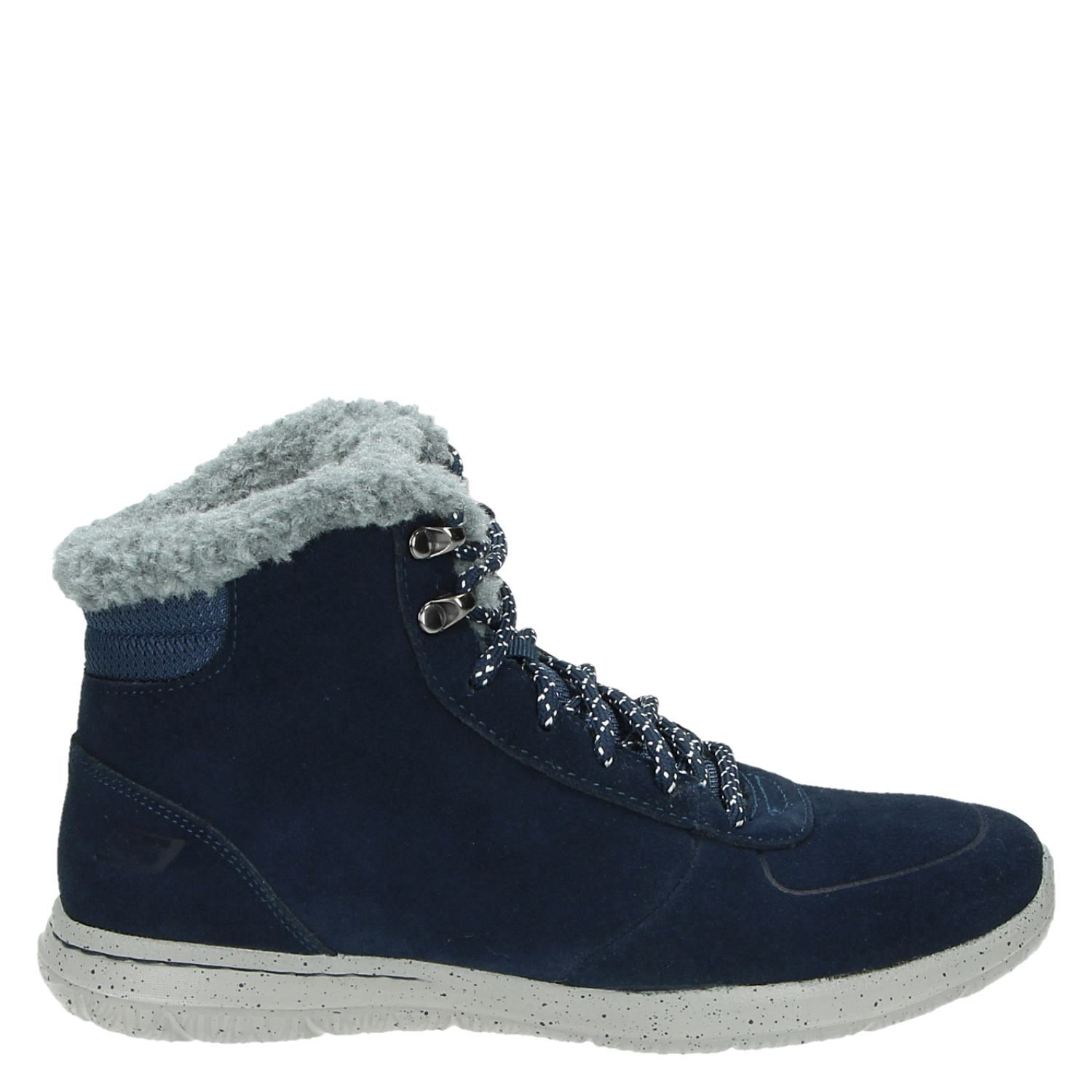 Skechers Dames Skechers Dames Veterboots Blauw