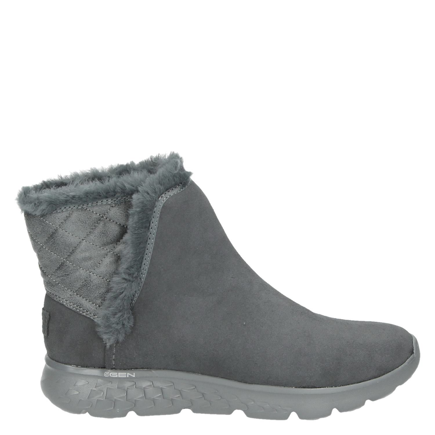 Skechers Dames Skechers Dames Rits And Gesloten Boots Grijs