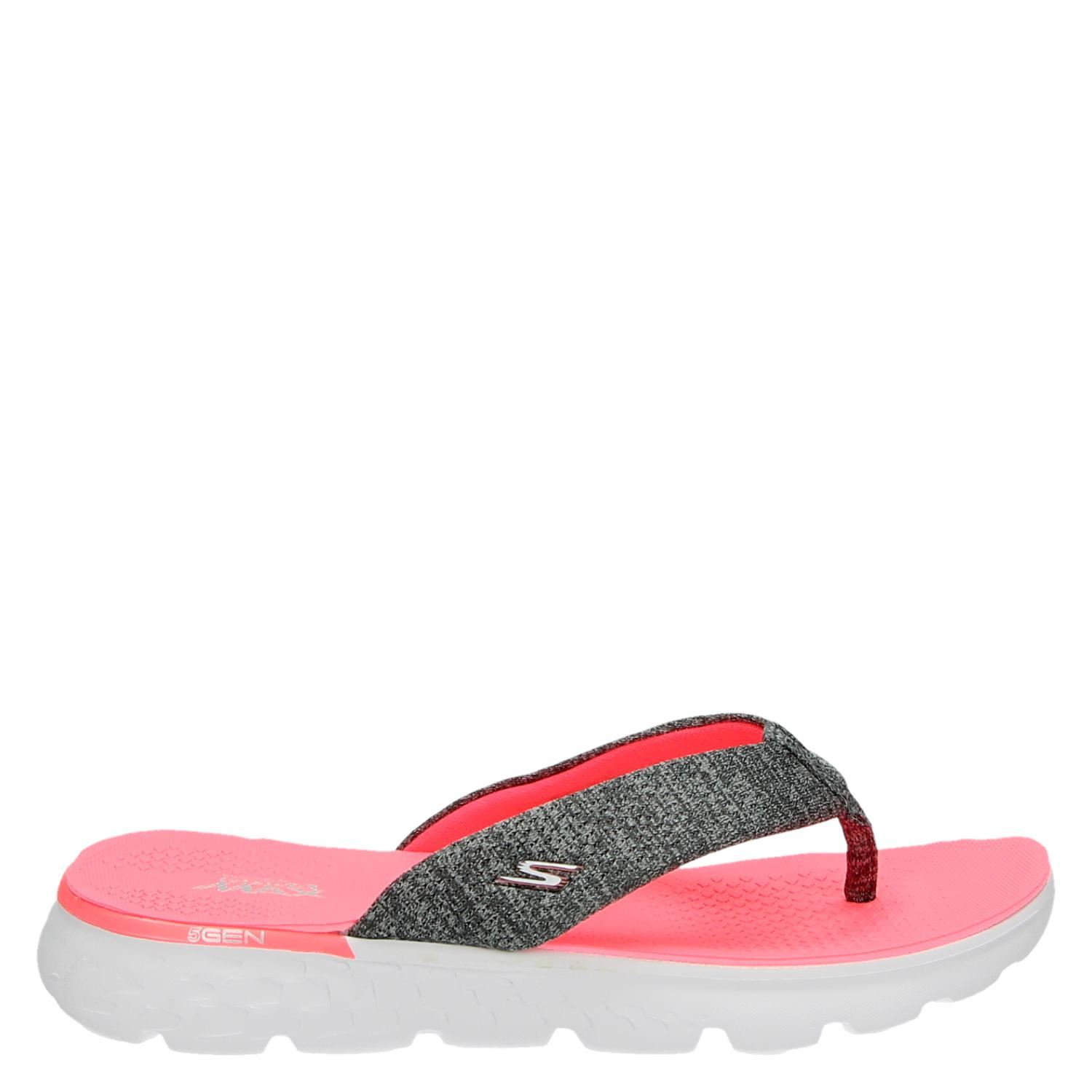 Skechers Dames Skechers Dames Slippers Grijs