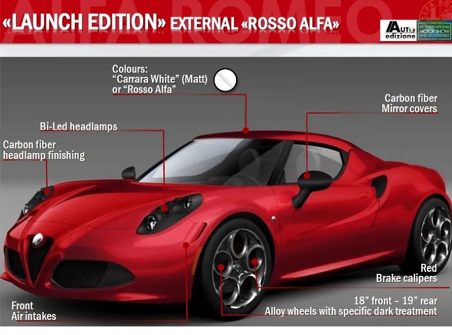 Alfa Romeo 4C Brochure Leaks Online Top Speed