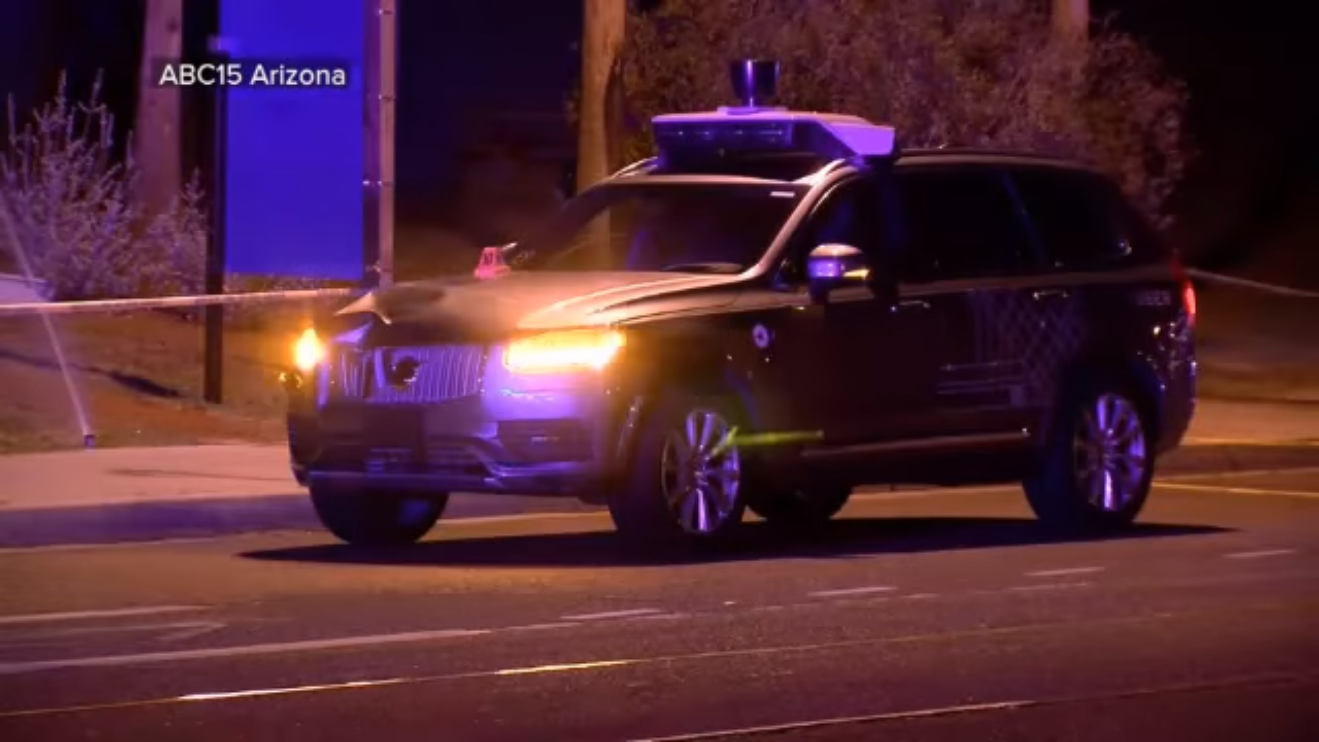 Safety Autonomous Car Breaking Uber Branded Self Driving Car Strikes And Kills