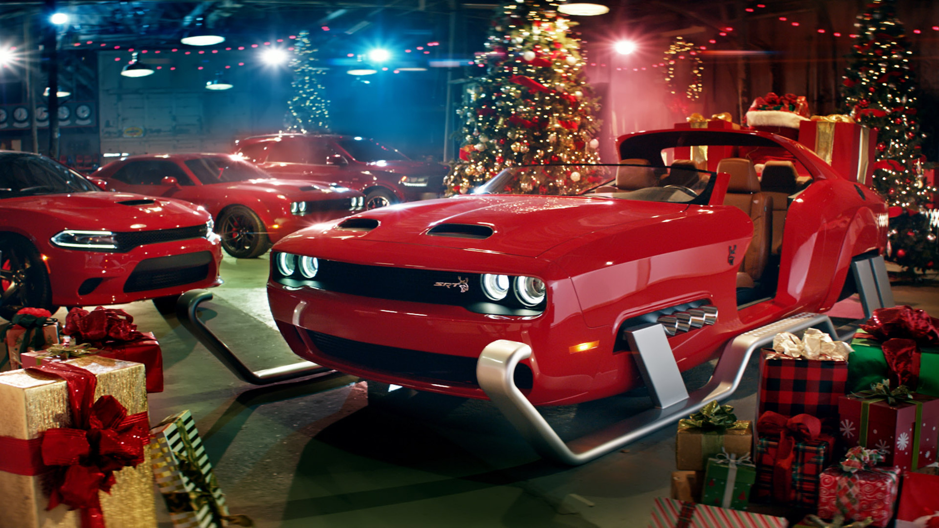Best Christmas Commercials Dodge Preps For Xmas With Challenger Srt Hellcat Redeye Sleigh
