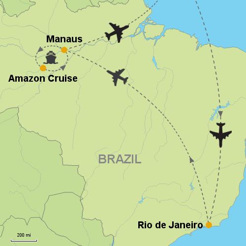 Rio de Janeiro - Amazon Clipper Premium Cruise- Customizable Itinerary