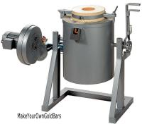 30 Kilo 2370 F Natural/Methane Gas Tilting Furnace-Smelt ...