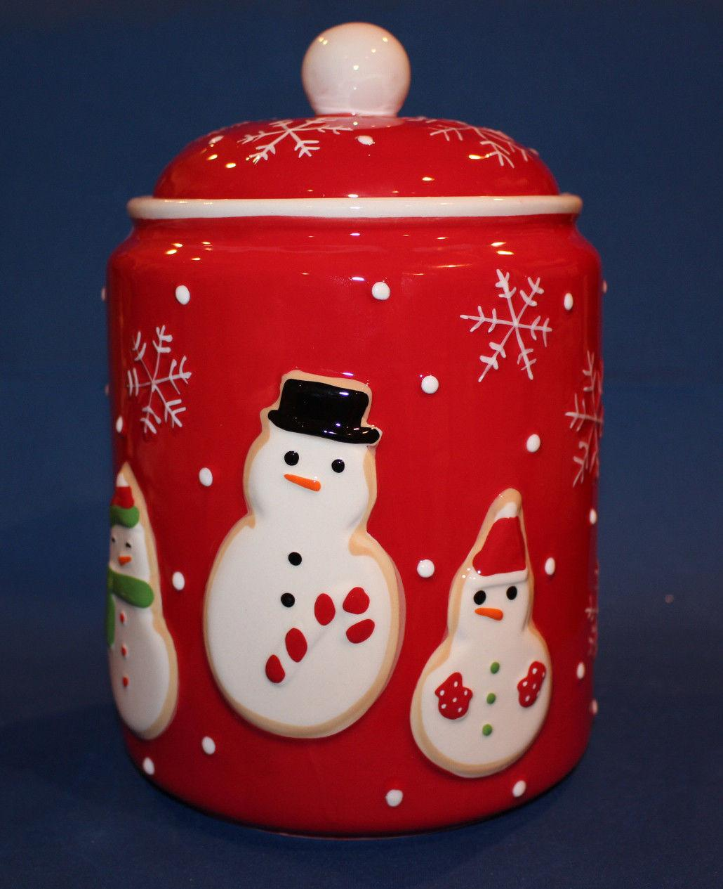 Modern Cookie Jar Hallmark Exclusive 2011 Snowman Ceramic Cookie Jar Brand