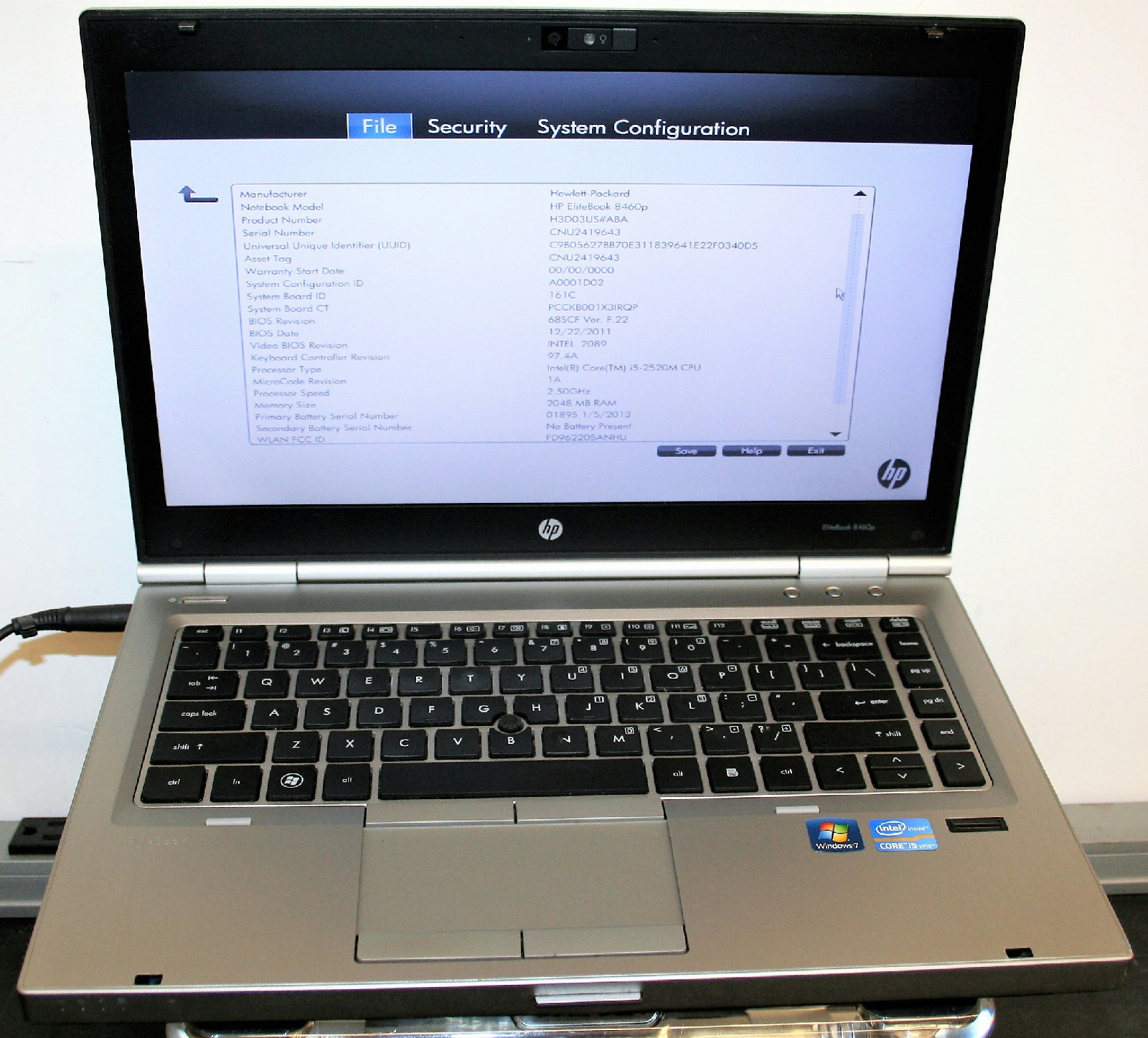 Hp Elitebook 8460p Hp Elitebook 8460p 14 Quot Core I5 2520m 2 5ghz 2gb 250gb