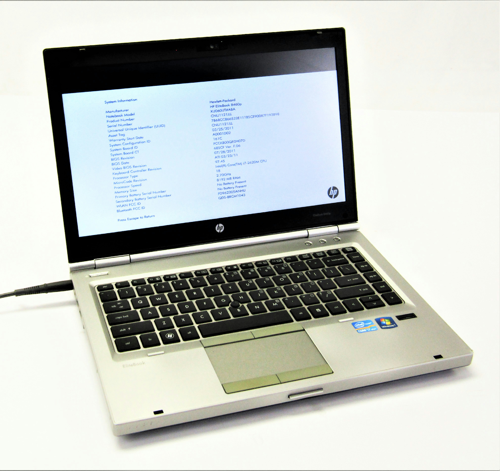 Hp Elitebook 8460p Hp Elitebook 8460p 14 Quot Laptop 2 70ghz Core I7 2620m