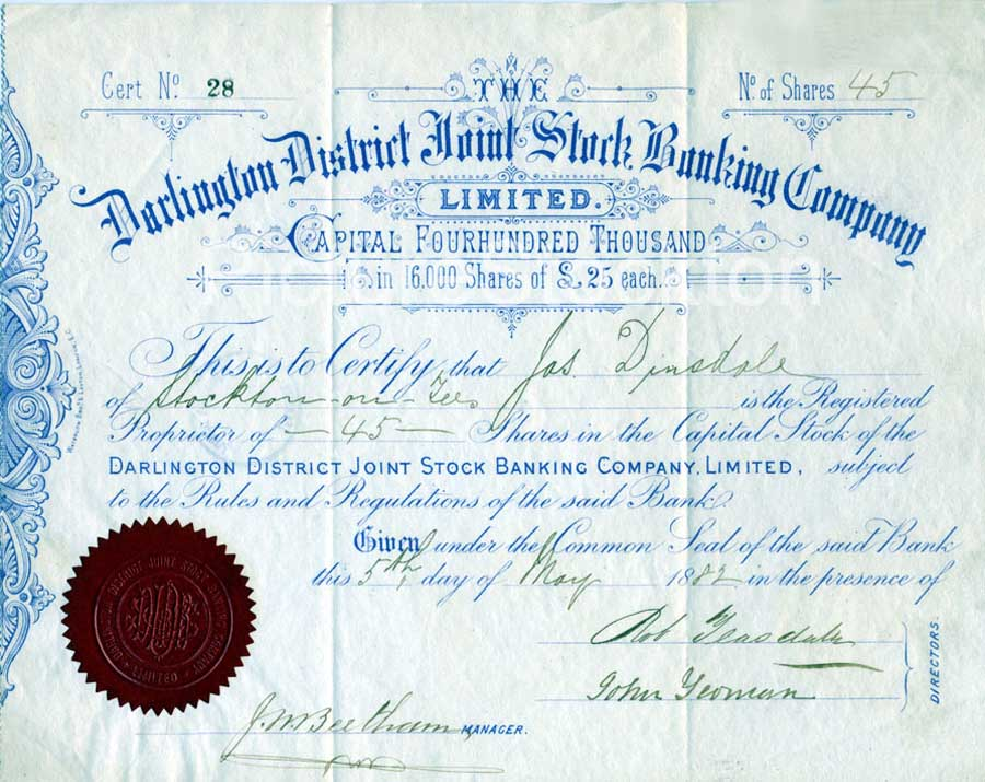 certificate of share - Goalgoodwinmetals - Company Share Certificates