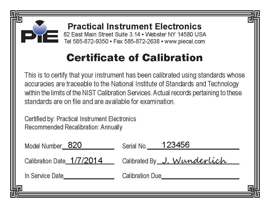 Calibration certificate template costumepartyrun certificates vitec inc yelopaper Images
