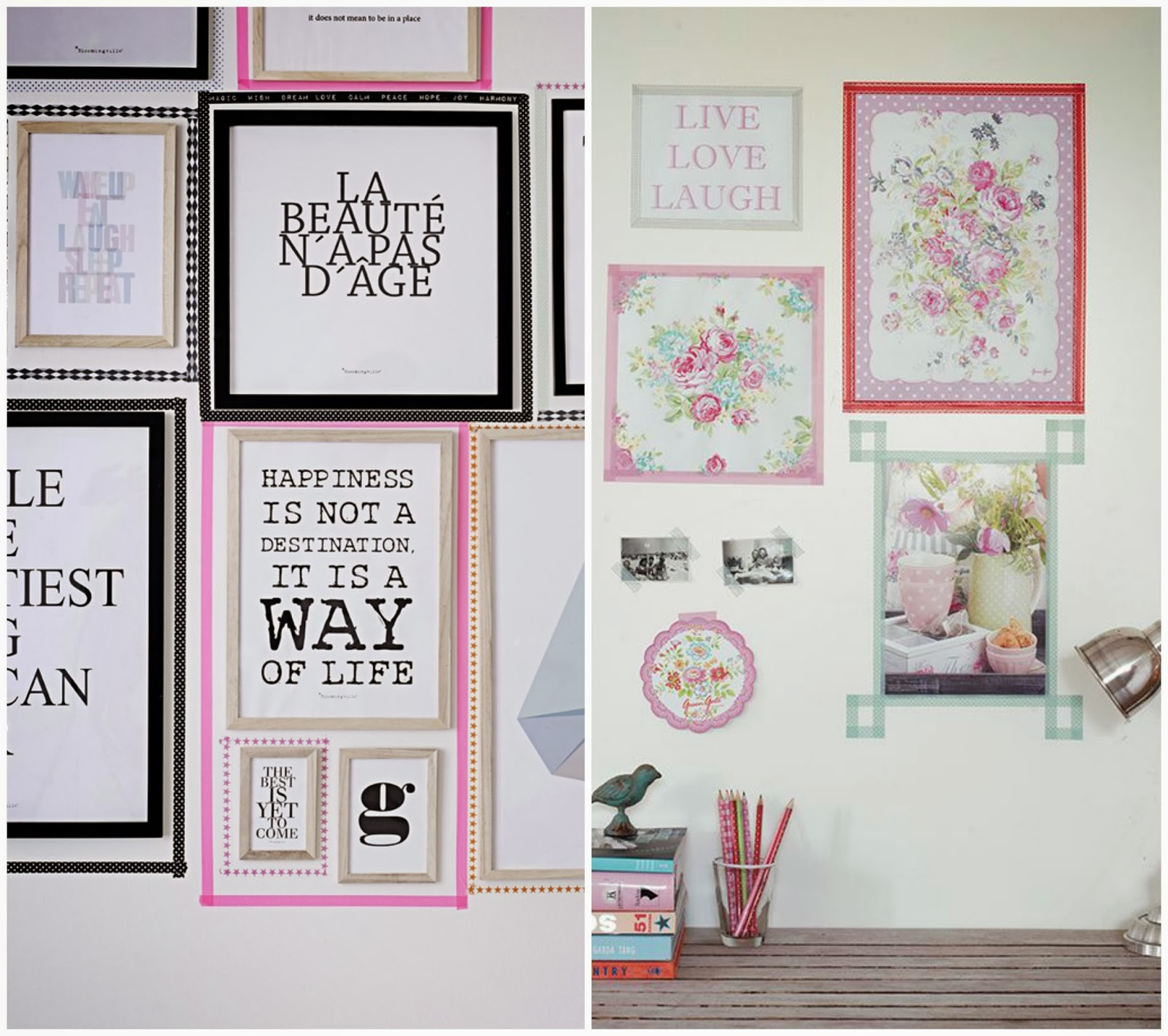 Ideas Para Decorar Con Washi Tape Chic Deco Washi Tape Frames Piensa En Chic