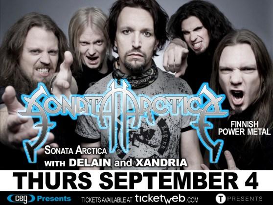 Poster - Sonata Arctica at Stage 48 - 2014