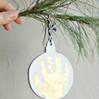 DIY Gilded Baby Print Ornament