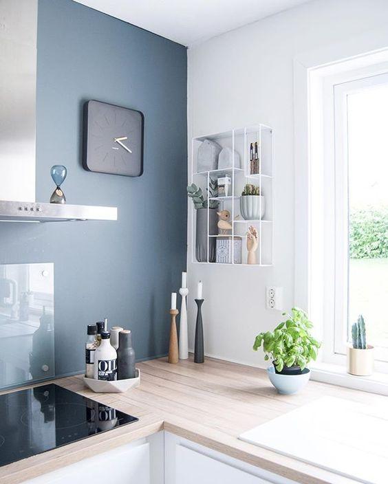 Match Déco * Bleu gris VS vert Kale Kitchens, Interiors and Salons