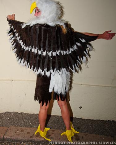 Cromer carnival fancy dress American bald eagle