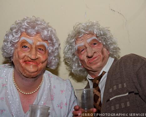 Cromer carnival fancy dress old plastic couple